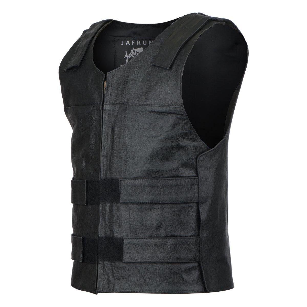 Bullet Proof Style Leather Vest XS