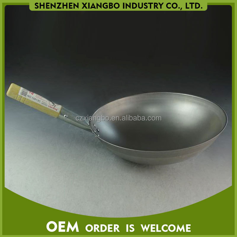 hot selling big size chinese wok with long handle JSD-08