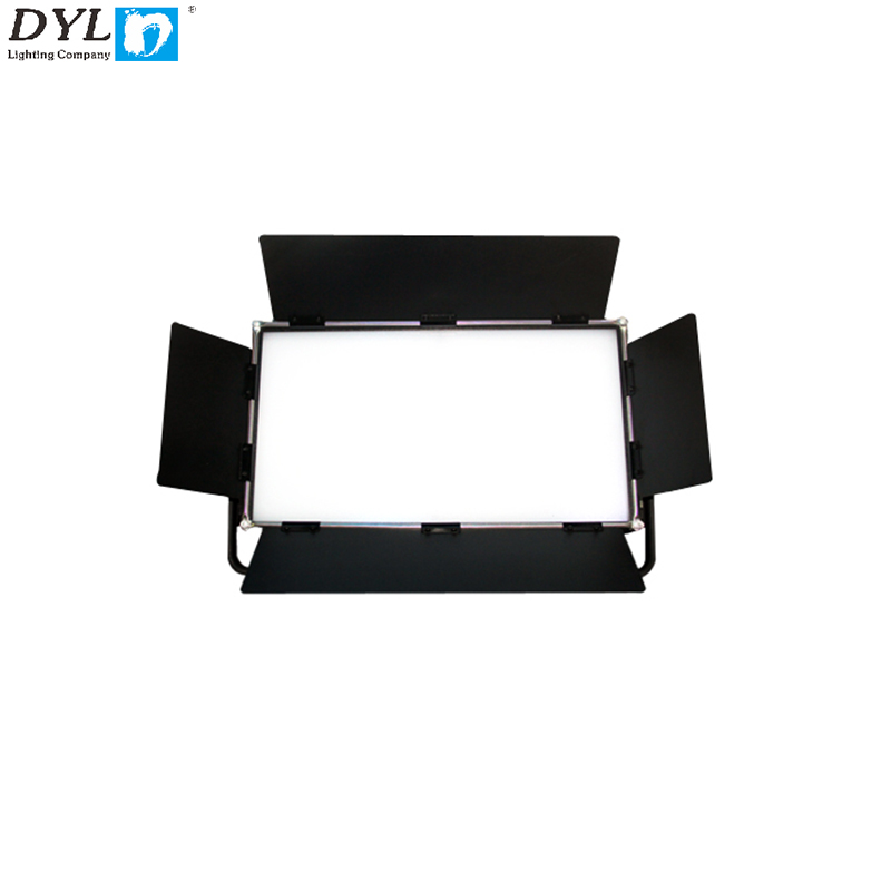Top quality full function high power 400w flat soft light Led video light with baffle