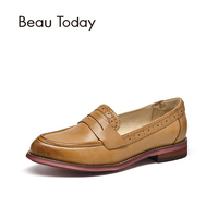 Moccasin Women Leather Penny Loafers Pointed Toe Wholesale Plus Size Ladies Flat Shoes Handmade 27013
