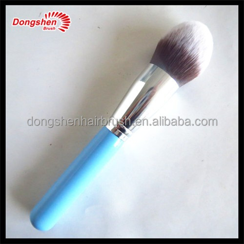 Professional wholesale cosmetic powder brush form makeup brush manufacturer ,synthetic hair wooden handle powder brush