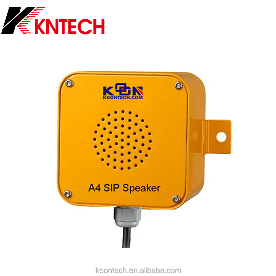 Industrial paging system/wireless sip phones use of speaker