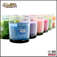 2017 new decorative personalized organic soy wax glass scented candle