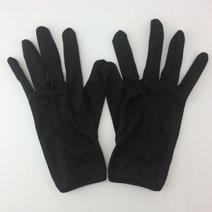 promotional factory price black cotton gloves