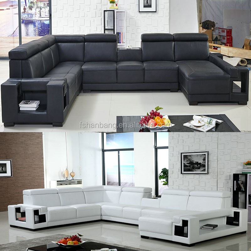 cheap living room furniture black and white leather