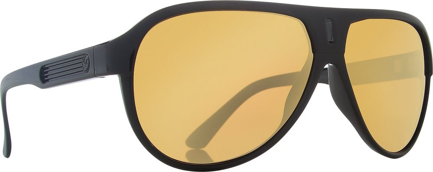 15099a36d3 Get Quotations · Dragon 720-2053 experience 2 sunglasses black gold w gold  ion lens (720