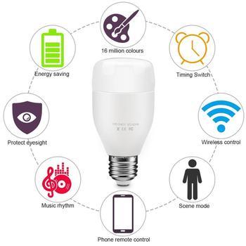 Tuya smart app control wifi smart 7w rgb led light bulb for home  automation, View rgb led light bulb, Lingan Product Details from Shenzhen  Lingan