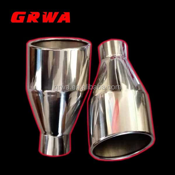high performance rolled edge exhaust tip for car