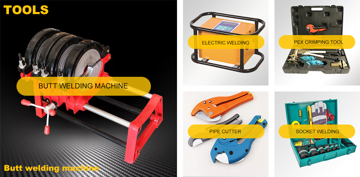 Hot Selling Portable 75-110MM  Plastic Pipe PPRC PP  PVC HDPE Welding Machine Set