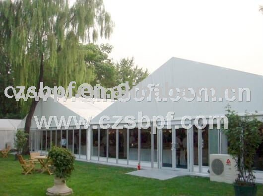 New Party tent with glasswalls (18x30m) Aluminum frame tent