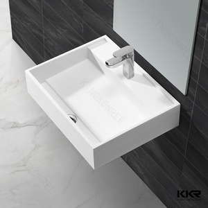 Artificial stone basins specification, solid surface wall-hung wash marble basins