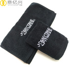120G Yoga Towel 100% Cotton Black Gym Neck Towels Custom Embroidery Towels
