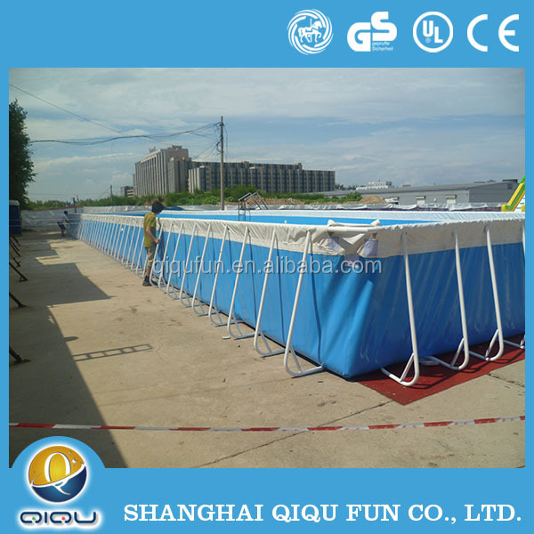 Largest metal frame outdoor inflatable swimming pool inflatable square pool for sale buy Square swimming pools for sale