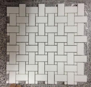 Fsmt-397 White Artificial Stone Types Mosaic Tiles