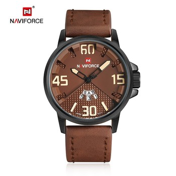 Naviforce new watches military leather strap business date week clocks time for man sport men brand japanese movement watch hot