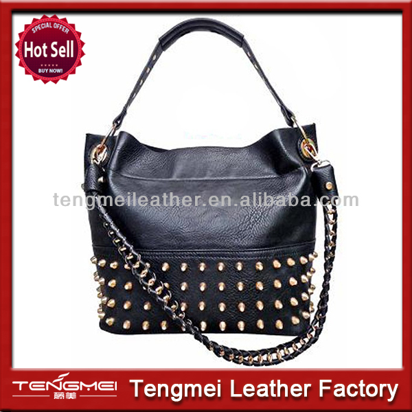 Hot selling cheap pu leather women embroidery 2014 trendy handbag
