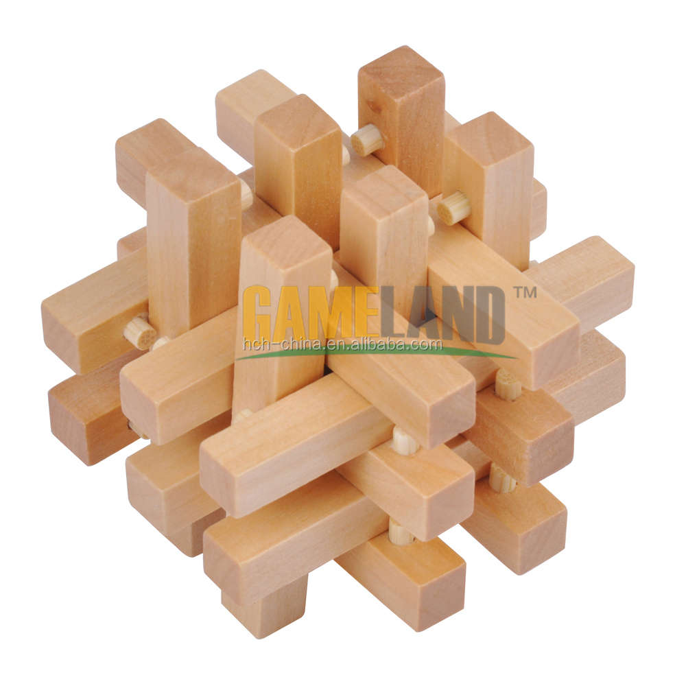 Wood Block Puzzle ~ Educational intelligent iq wooden brain teaser puzzle