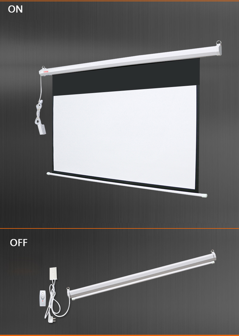 Motorized RF Remote Control Large Size Projector Screen Wall Celling Mount Electric Projection Screen