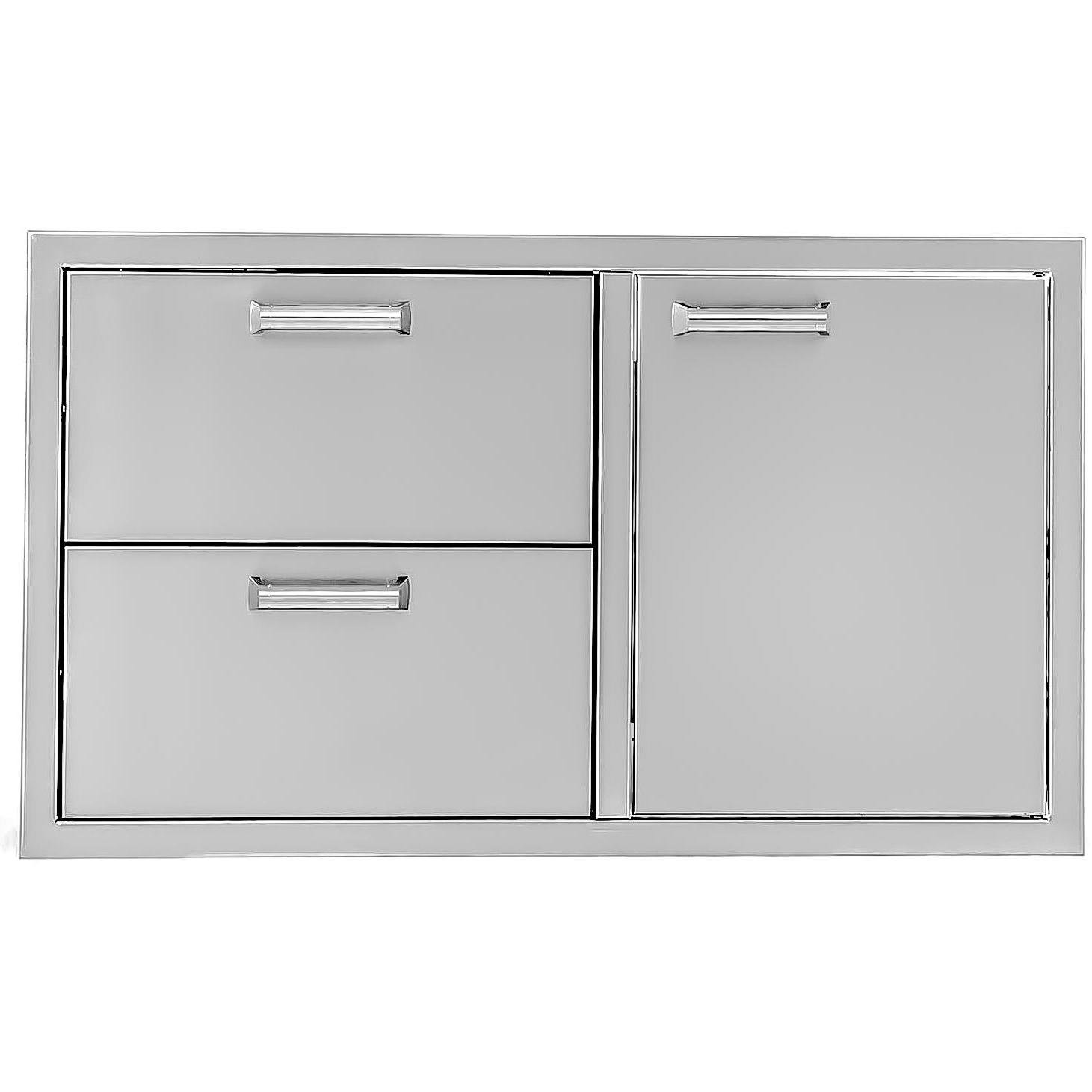 BBQGuys.com Sonoma Series 36-inch Stainless Steel Right-hinged Access Door & Double Drawer Combo