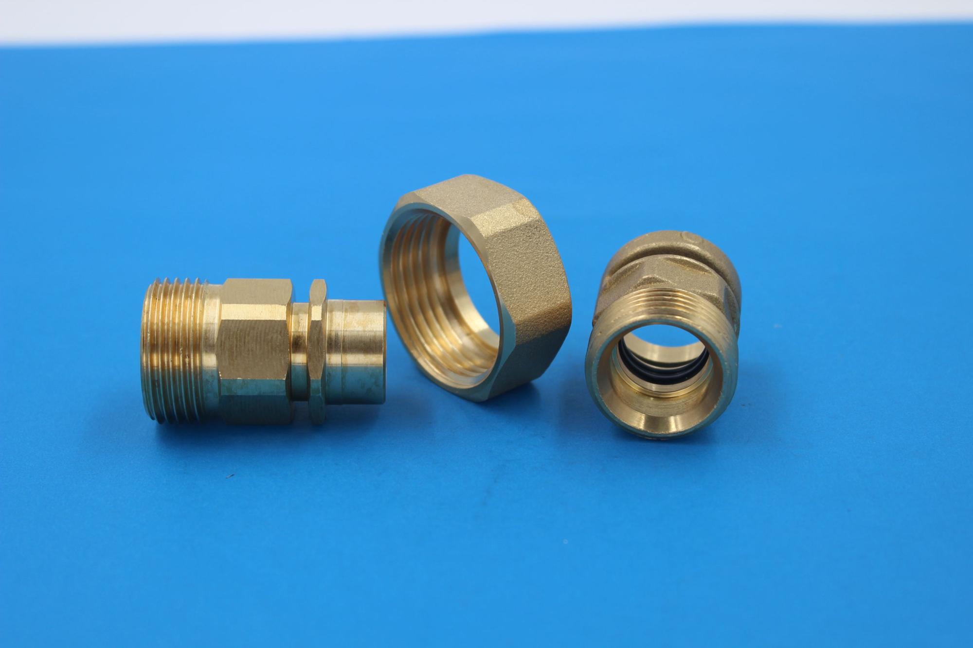 Top quality cnc turning hex nylon / brass coupling nut