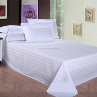 100% cotton single bed sheets, cheap sale hotel textile bed set