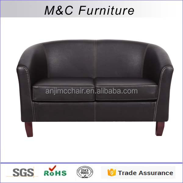 M&C 2 seater modern leather home furniture sofa