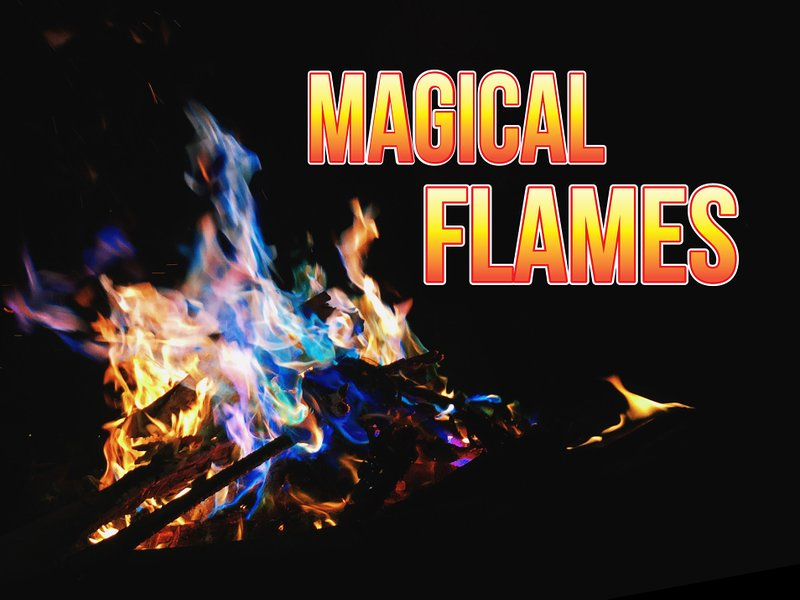Creates Color Flames For Wood Burning Fires Magical Flames