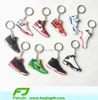 glow air jordan sneaker 3d keychains mini running shoe keychain