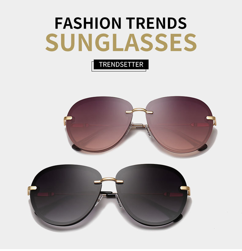 2019 High Quality Gradient Round Frame UV400 Women Female Sunglasses