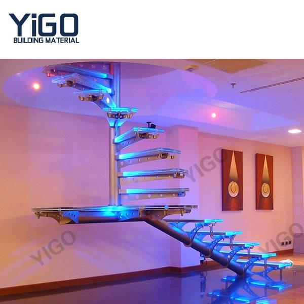 hierro forjado escalera de escalera espiral escalera de caracol