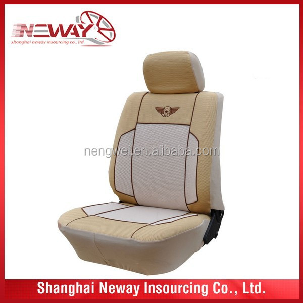 car seat cover in beige color and universal size for any car
