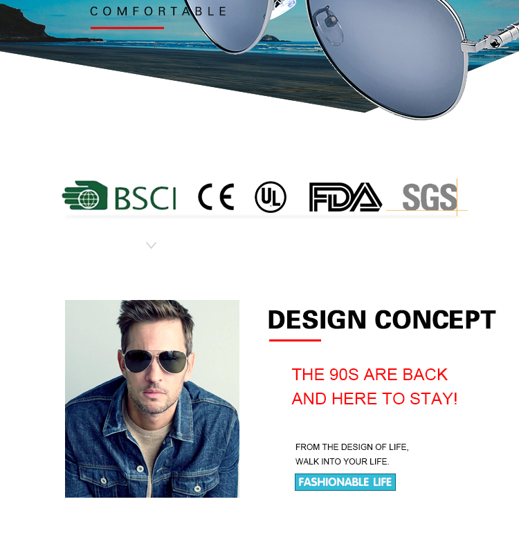 Fashion metal Sunglasses Gafas de sol for men women