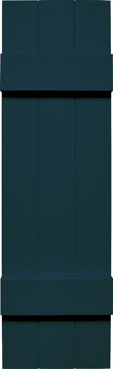 """Mid America VJB&B10.586MB Joint Board & Batten Three Board Vinyl Shutter,, 86"""" x 10.5"""",, Midnight Blue"""