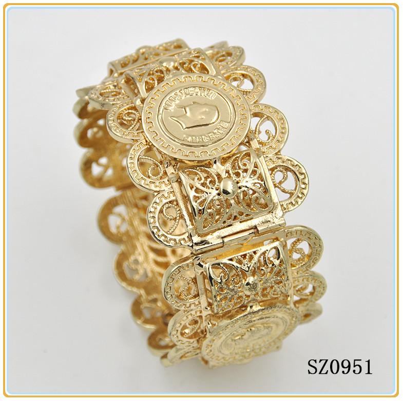 18k Gold Bangle Saudi Arabia Jewelry Dubai Plated Jewelry