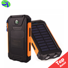 8000Mah Solar Power Powered Cell Phone Charger, Solar Portable Charger Powerbank Waterproof Solar Battery Power Bank Usb Charger