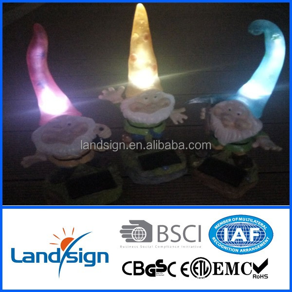 New hot dwarf solar garden lamp XLTD-P5007 led decoration solar energy lights