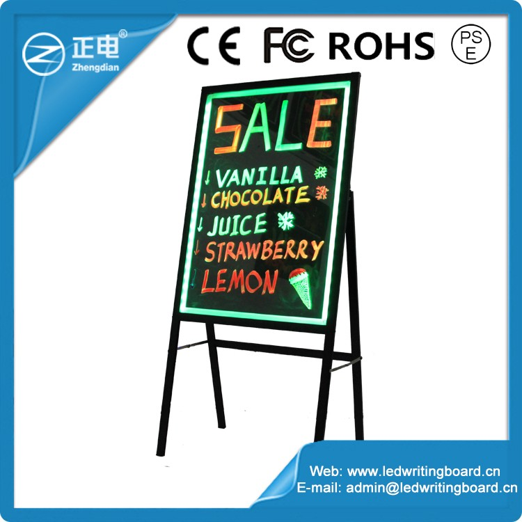 80x60 led display panel illuminated led sandwich board