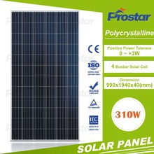 ISO/TUV/CE Certificated 4BB 310w Solar Panel for home systems Fire Code Safety