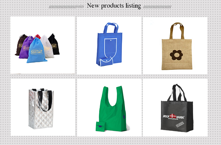 Simple style reusable polyester shopping plastic bags