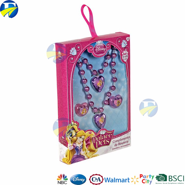 disney audit supplier jewelry party sets kids gift box metal jewelry set