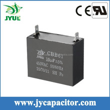 8UF 450V CBB61AC motor run capacitor 2 Pins for fan