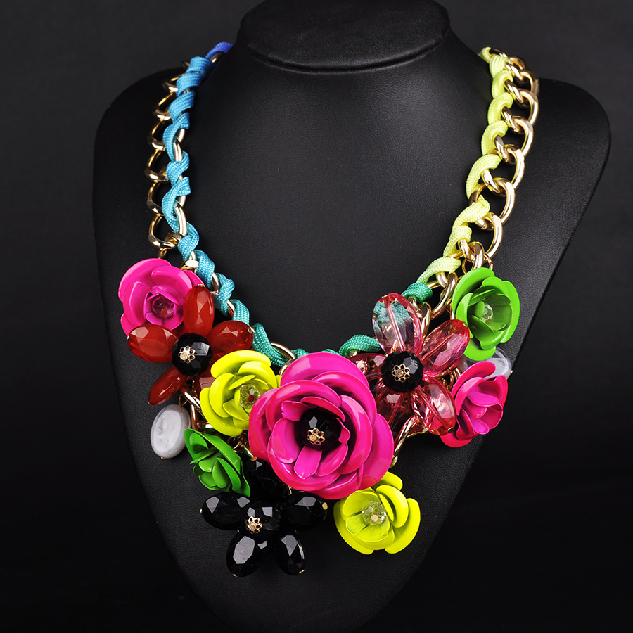 Flower Necklace Love Forever Christmas
