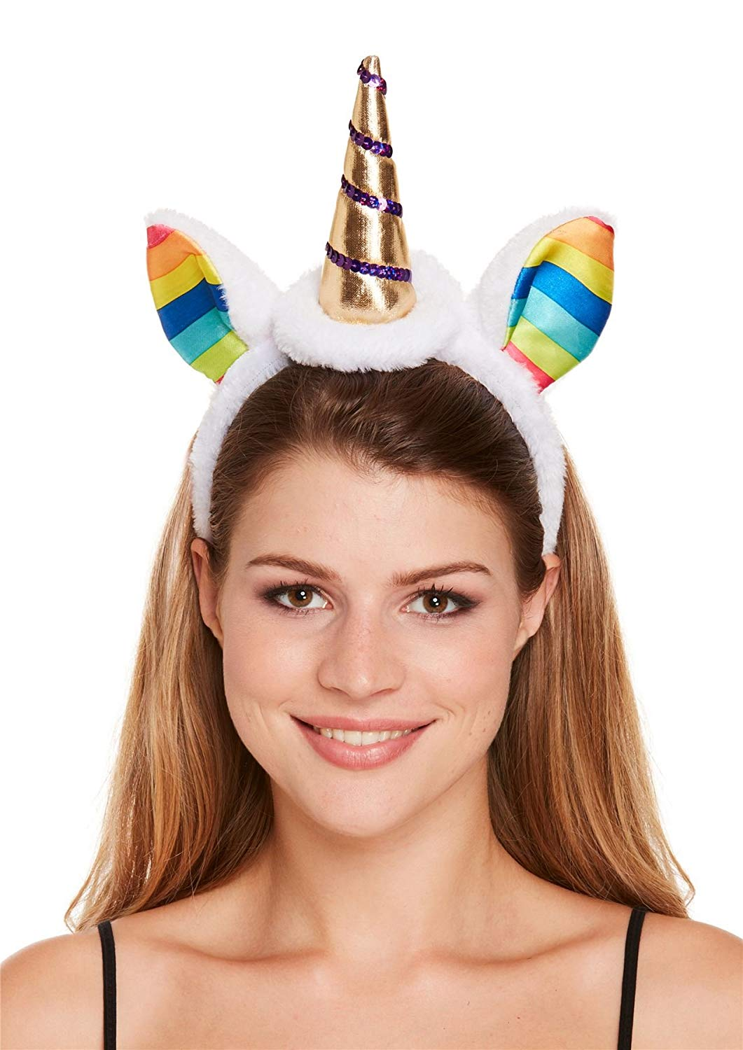 Rimi Hanger Adults Unicorn Horn Headband Childrens Easter Fancy Dress Cosplay Accessory One Size