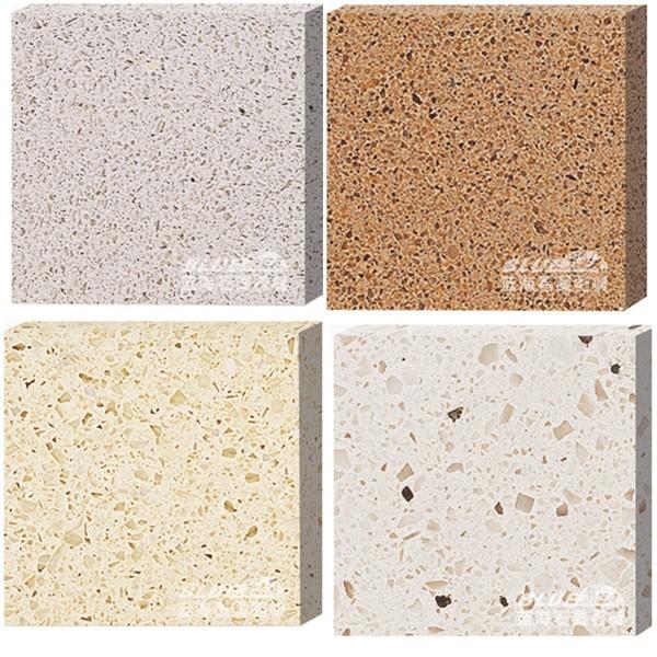 Prefab White Sparkle Quartz Stone Countertop Kitchen