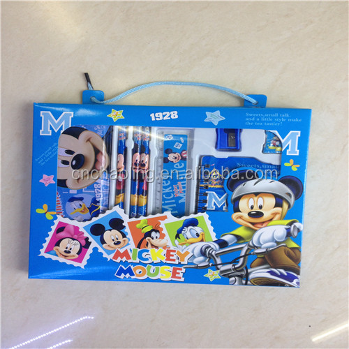 2015 back to school stationery sets kids cartoon stationery sets funny school stationery sets wholesale