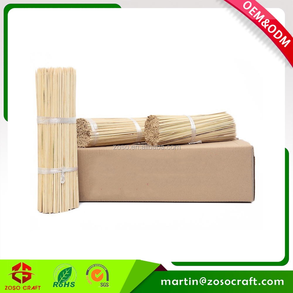 Bamboo Disposable Paper hangtag bag packing BBQ Skewer with Customized Logo