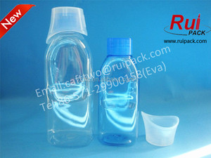 New Product!100ml 180ml empty eye washing liquid plastic bottle,clear PET bottle with cap used for eye care solution