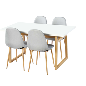Modern MDF Dining Table Set 4 Dining Chair Office Coffee Table Furniture