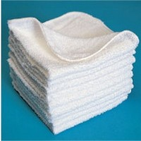 100% cotton white Washcloth