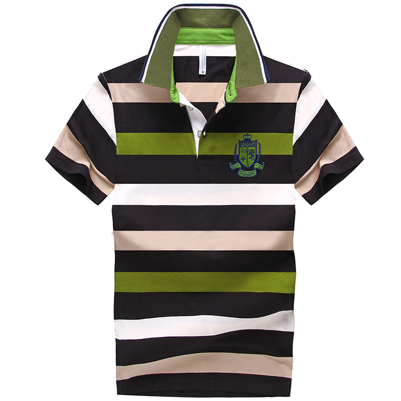 ff07ef15a69 Get Quotations · 2015 Hot Sale Fashion Green Men Polo Shirt Cotton Made  Contrast Color Slim Short Sleeve Top